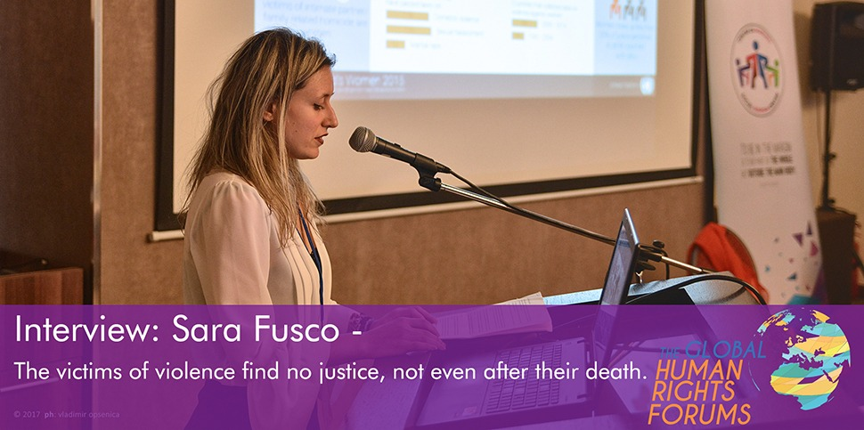 Sara Fusco speaking at the 2nd Global Human Rights Forum © 2017 ph: vladimir opsenica