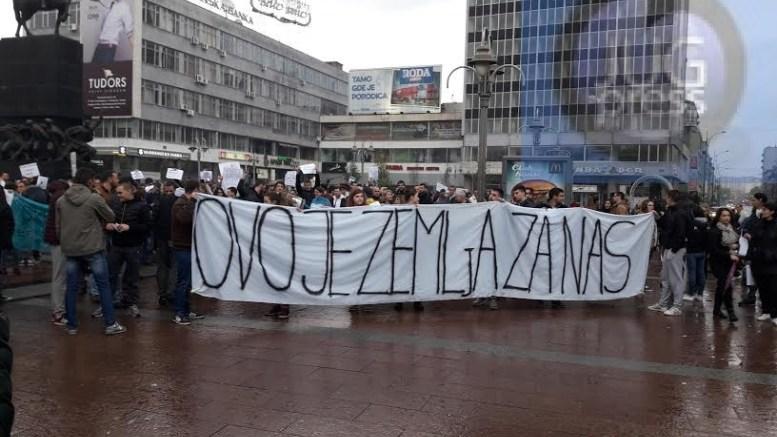 Protest u Nisu / izvor: JugPress