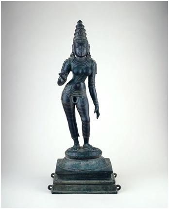 Hinduistički bog Šiva često se prikazuje u androginom obliku. Izvor: http://www.artic.edu/aic/collections/artwork/