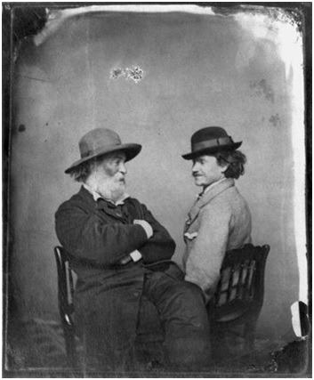Volt Vitman (Walt Whitman), pesnik koji slavi mušku lepotu, prikazan je sa kočijašem sa kojim je bio u osmogodišnjoj vezi Izvor: https://www.bostonglobe.com/