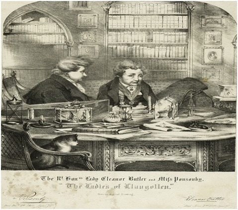 Eleanor Butler i Sarah Ponsonby su krajem 18. veka pobegle od kuće i započele zajednički život. Izvor: https://es.wikipedia.org/wiki/